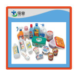 in-Moulding Plastic Adhesive Labels in PE and PP Bottles, Cups, Boxes