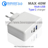 Type-C USB Wall Charger QC 3.0 USB Travel Charger Qualcomm Quick Charge 3.0 5V 2.1A 3 Ports USB Home Charger Type C Charger for Smartphone Tablet