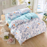 Printed Microfiber Fabric Bedding Set with Duvet Cover Pillow Cases