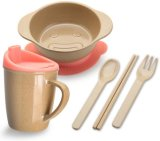 Rice Husks Fiber Eco-Friendly BPA Free Baby Dinner Set