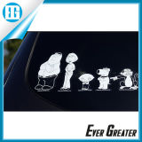 Customized White Family Car Stickers with Removable Glue
