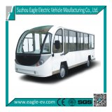 14 Seats Electric Shuttle Bus, with Cab, Optional Heater, Air Condition, with 72V 7.5kw Motor,