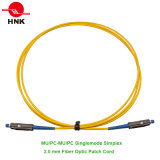 Mu/PC to Mu/PC Simplex Singlemode 2.0mm Fiber Optic Patch Cable