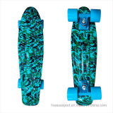 22inch PP Mini Skateboard Cruiser Complete Skateboards Banana Skateboard Blue Camo