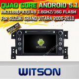 Witson Android 5.1 Car DVD GPS for Suzuki Grand Vitara 2006-2010 with Chipset 1080P 16g ROM WiFi 3G Internet DVR Support (A5779)