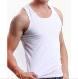 Customize 100%Cotton Sexy Men White Undershirt