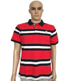 Mens Short Sleeve Fashion Design Stripe Polo Shirt