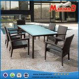 Synthetic Wicker Outdoor & Indoor 6 Seats Rattan Dining Set