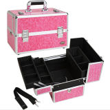 Professional Makeup Case W/ 3 Trays - Pink Crocodile
