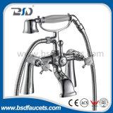Luxury Brass Pillar Mounted Bath Shower Faucets