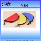 Sturdy Waterproof 600d Oxford Sewing Foldable Portable Outdoor Pet Traveling Food Bowl