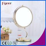 Fyeer Attractive Design Round Golden Makeup Mirror (M5208G)