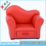PVC Leather Kids Sofa with Storage Funcation