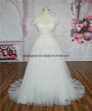 AG115 Cap Sleeves French Lace Bridal Wedding Dresses