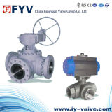 Electric Drived Three Way Floating Ball Valve