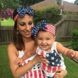 on Sale Mom and Me American Flag Kids Headband Girls Turban Head Wraps Gift for Kids and Mom