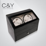 Black Piano Lacquer Watch Winder with Extra Drawer