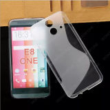 S-Shape TPU Case for HTC E8