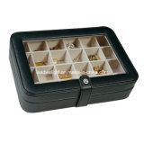 Glass Top Faux Leather Jewelry Cell Cufflink Gift Packaging Box