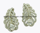 925 Hotselling Sterling Silver Tiny Tree Branch Earrings with Double Crystal for Women