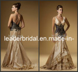 Gold Evening Dress Prom Gown Mermaid Wedding Formal Gown E13187