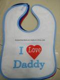 OEM Produce Customized Logo Printed Cotton White Cheap Baby Bib