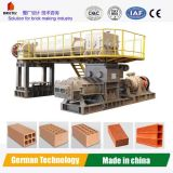 Double Stage De-Airing Extruder-Automatic Clay Brick Making Machine