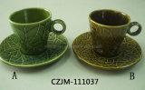 Ceramic Leaf Cup&Saucer