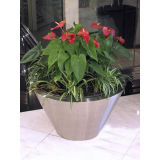 Bowl Round Flower Pots, Garden Metal Pots, Stainless Steel Planter