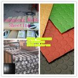 Coin Pattern Rubber Flooring, Rubber Gym Flooring, Hospital Rubber Flooring