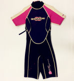 Short Neoprene Surfing Wetsuit with Nylon Fabric (HX15S72)