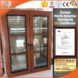 Oak Wood Tilt Turn Window China Manufacturer with Wood Grain Color Finishing