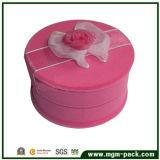 Wholesale Promotional Elegant Round Pink Storage Jewelry Gift Box