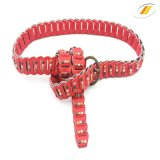 Fashion Women's Braided Leather Belt with Rivet