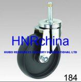 White PP Wheel Industrial Swivel Plug Top Caster