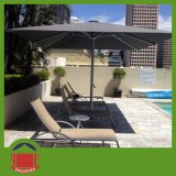 Dark Color Central Side Post Umbrella with Lounge