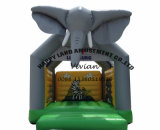 3D Elephant Inflatable Bouncer with Printing