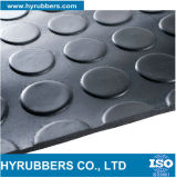 Anti Slip Round Button Rubber Sheet/Mat/Flooring Roll