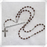 6mm Glass Bead Imitation Pearl Knotted Rosary Item for Gifts (IO-cr061)