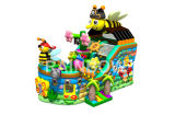 Hot Sale Inflatable Bee Pirate Boat Bouncer with Slide for Kids