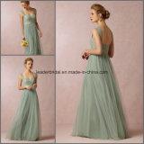 Double Shoulder Prom Party Gowns Tulle Applique Evening Formal Dresses Z3010