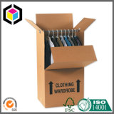 Strong Corrugated Paper Wardrobe Moving Box with Metal Pole