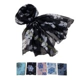 Hot-Selling Snowflake Design Lady Voile Long Shawl