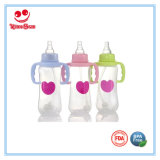 Food Grade Normal Neck Baby Feeding Bottle with Handle