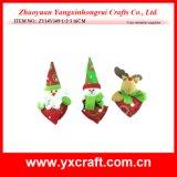 Christmas Decoration (ZY14Y349-1-2-3) Christmas Love Heart Shape Cheap Souvenir