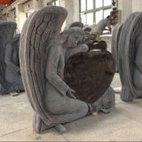 Aurora Granite Headstone Memorials with Engraving Angels
