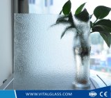 Clear Nashiji Figured Glass with CE&ISO9001