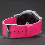 Colorful Round Tail Genuine Leather Watch Strap Without Stitching