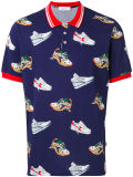 Custom Men′s Polo Shirt with Shoe Patterned