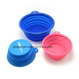 Travel Collapsible Fabric Dog Pet Bowl Plastic Dog Bowl